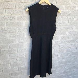 theyskens' theory Delcra Fluke Black Shift Dress